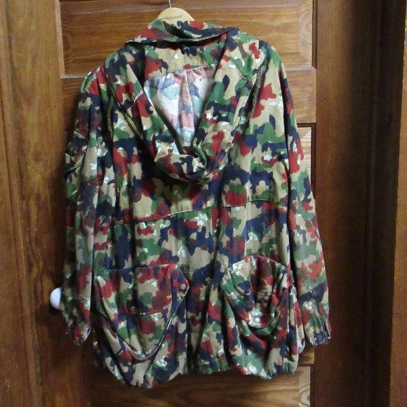 Hooded Swiss Alpenflage Jacket w/Net 56